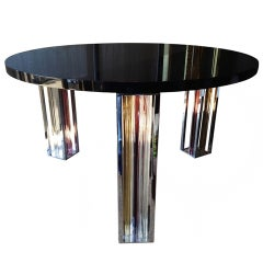 Murano Glass and Chrome Dining Table by Rodolfo Dordoni for Venini