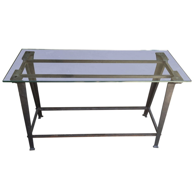 Steel and Glass Console Table