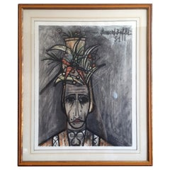"Bernard Buffet Lithograph on Paper ""Limited Edition"" 299/300"