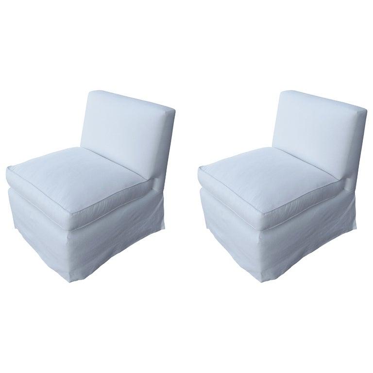 Pair Of Billy Baldwin Slipper Chairs 1