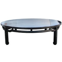 Captivating Bleached Mahogany Coffee Table By Baker Furniture