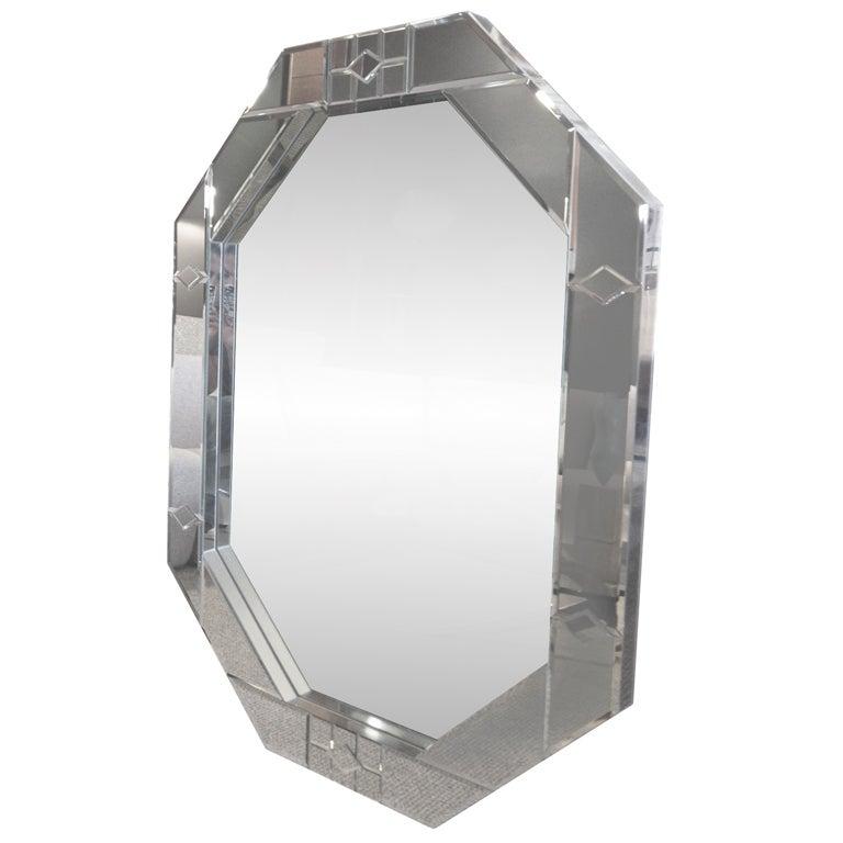 oktagonos mirror by carol canner crafted by mark burday