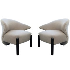 "Pair of ""Calla Lily"" Chairs in the Style of Saporiti"