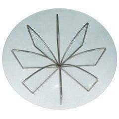 Satin Nickel and Glass Coffee Table by Kipp Stewart