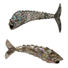 Articulated Abalone & Brass Bottle Openers by Los Castillo