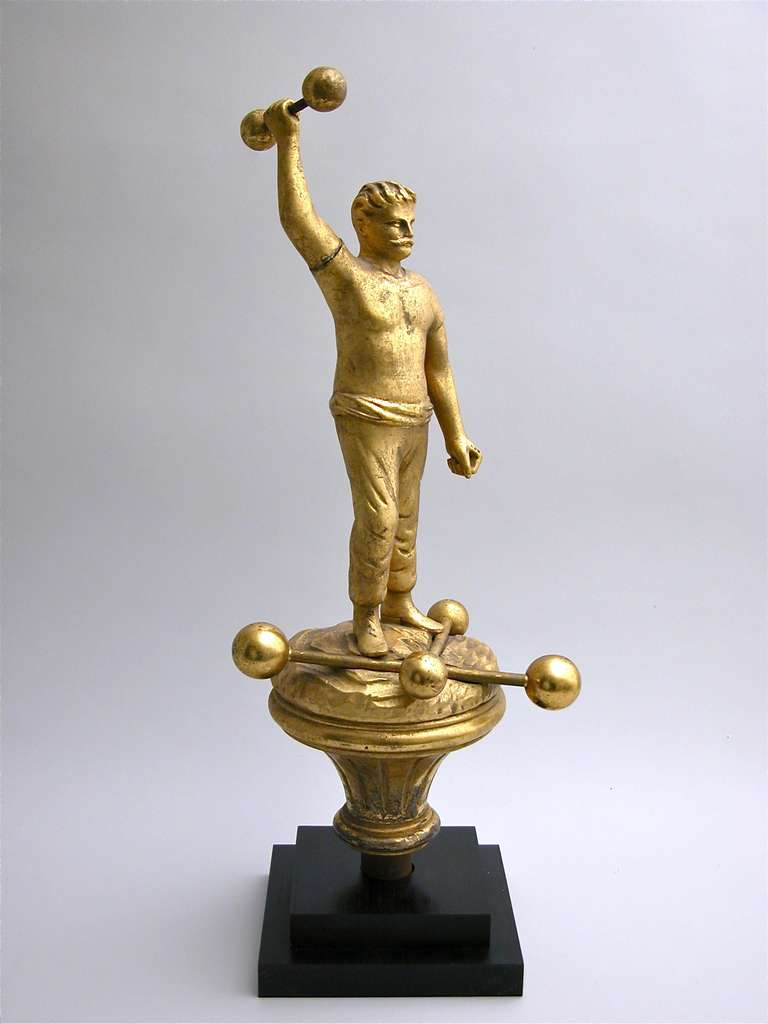 19th Century Figural Parade Finial For Sale