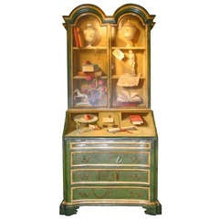 Italian Trompe l'Oeil Painted Secretary Desk