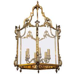 Louis XVI Style Bronze Six Light Lantern