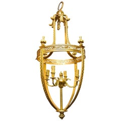 Very Fine Quality Large French Louis XVI Style Bronze Four-Light Lantern