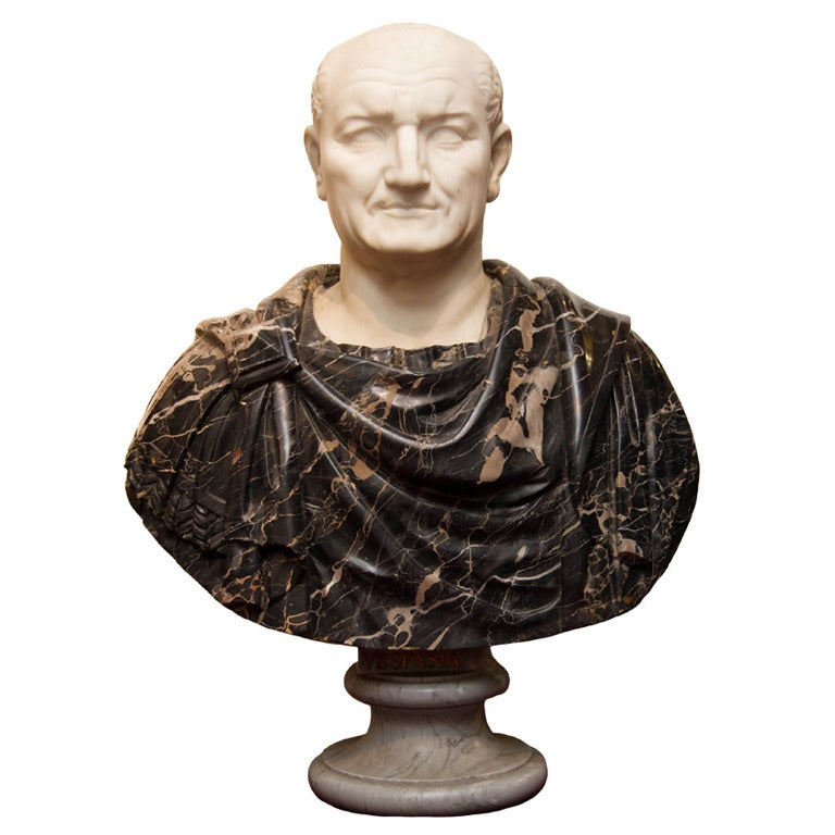 Life-Size Marble Bust of a Roman Emperor