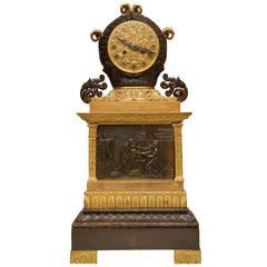Fine French Empire Style Neoclassical Mantel Clock