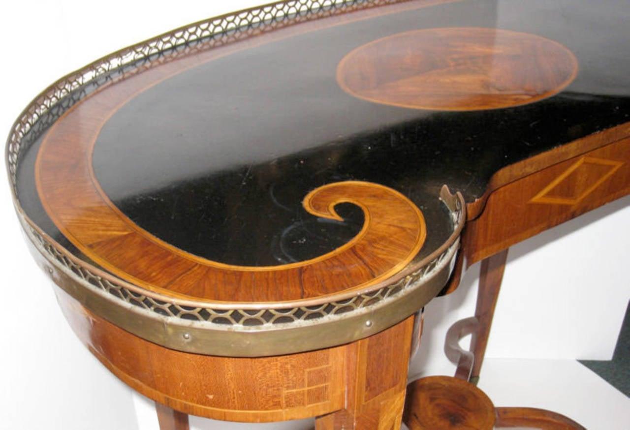 kidney shaped writing desk