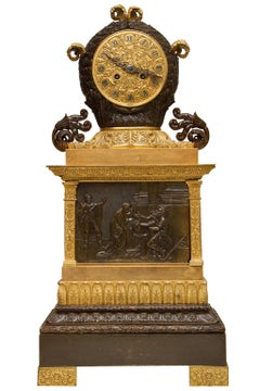 Fine French Empire Style Neoclassical Mantel Clock