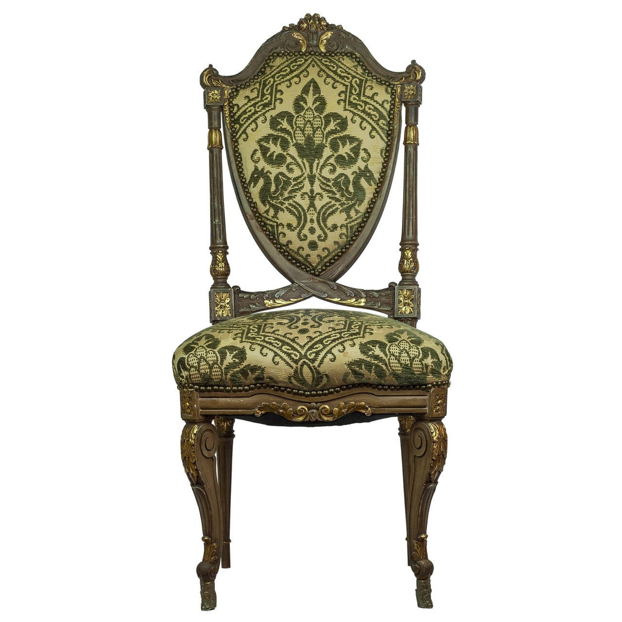 Wonderful Set Of Twelve Louis XVI Style Dining Room Chairs