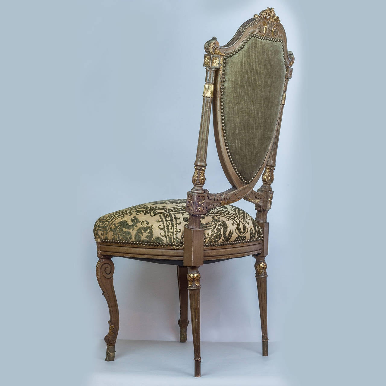 Wonderful Set Of Twelve Louis XVI Style Dining Room Chairs For Sale At 1stdibs