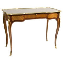 Important Ormolu-Mounted Louis XV Style Desk Stamped Beurdelay