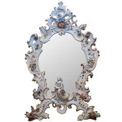 Venetian Floral Painted Porcelain Mirror