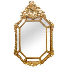 Neoclassical Georgian Style Giltwood and Gesso Mirror