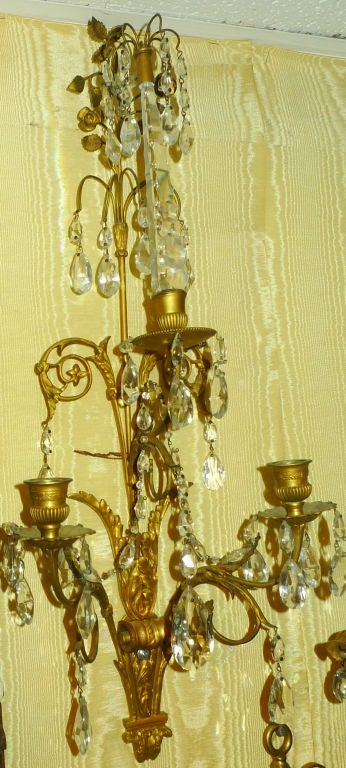 Pair of French Baltic/ Louis XVI Style Sconces 2