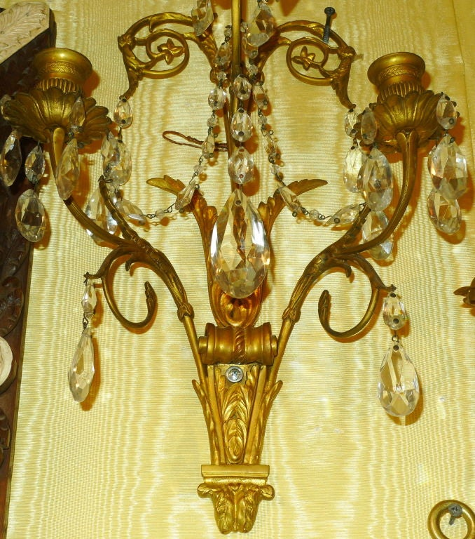 Pair of French Baltic/ Louis XVI Style Sconces 4