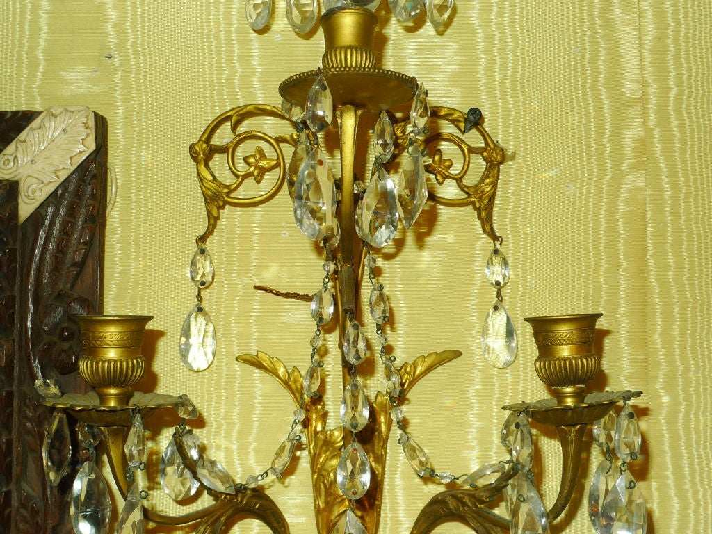 Pair of French Baltic/ Louis XVI Style Sconces 5