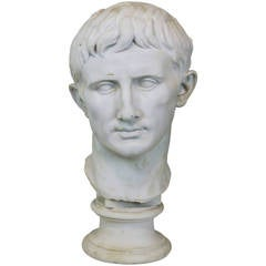 Neoclassical Composition Bust of Caesar