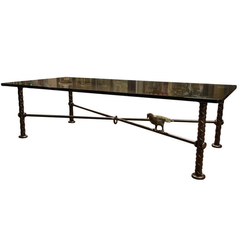 A Bronze Glass Top Coffee Table By Ilana Goor At 1stdibs