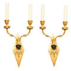 Pair of French Empire Style Blackamore Sconces