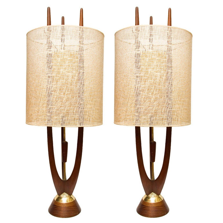 pair of danish modern table lamps at 1stdibs. Black Bedroom Furniture Sets. Home Design Ideas