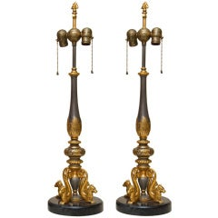 Pair of Renaissance Revival Caldwell Style Table Lamps