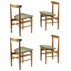 Set of Four 1950s Dining Chairs by René Jean Caillette