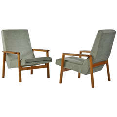 1950s Pair of 641 Armchairs by Pierre Guariche