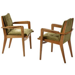 Pair of 1950s Armchairs, Model FS 106 by Pierre Guariche