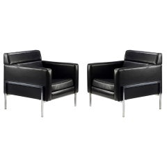 Pair of 1960s Thonet Armchairs by Pierre Paulin
