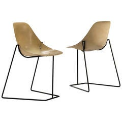 Pair of Coccinelle Chairs by René-Jean Caillette, 1957