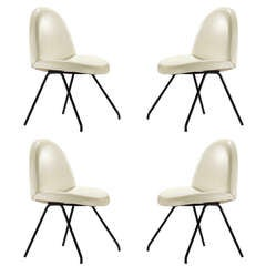 Set of 4 Chairs, Model 771, by Joseph André Motte
