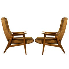 Pair of 1950s Vendôme Chairs by Pierre Guariche