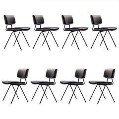 "Set of Eight ""Compas"" Chairs by Pierre Guariche"