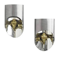1970s Pair of TOTEM Sconces by Maria Pergay