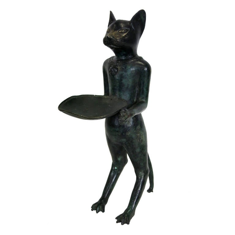 Célèbre Large Bronze Le Chat Maître D'Hotel in the Style of Diego  TQ34