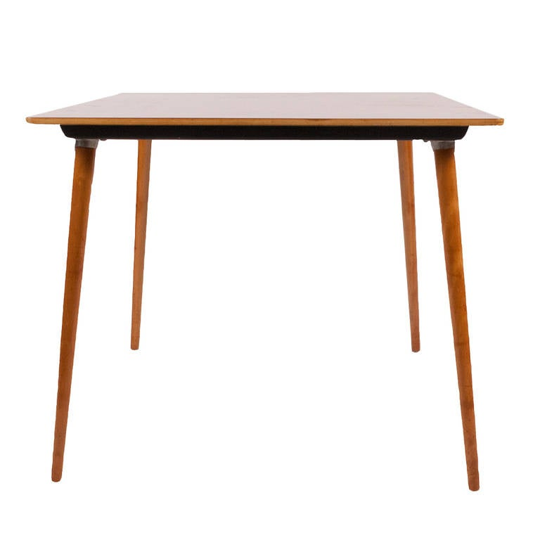 DTW-40 Dowel Leg Card Table by Charles Eames