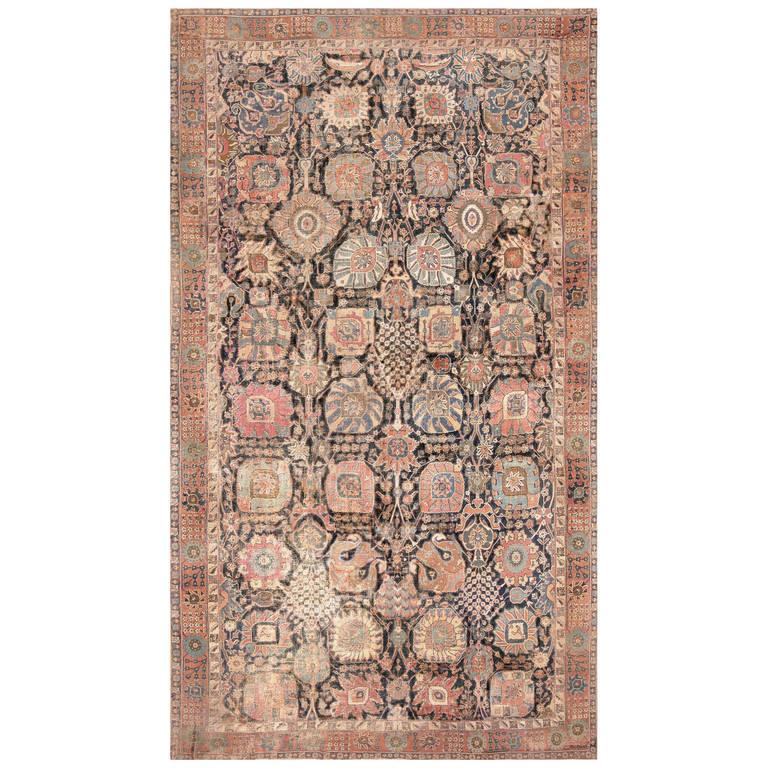 Rare 17th Century Persian Vase Kerman Carpet For