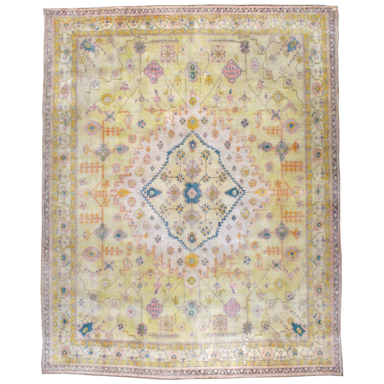 Antique Indian Cotton Agra Rug For Sale At 1stdibs