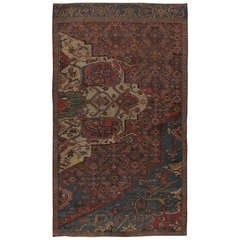 Antique Persian Bidjar Sampler Rug
