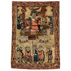 Antique Persian, Malayer, Pictorial Rug