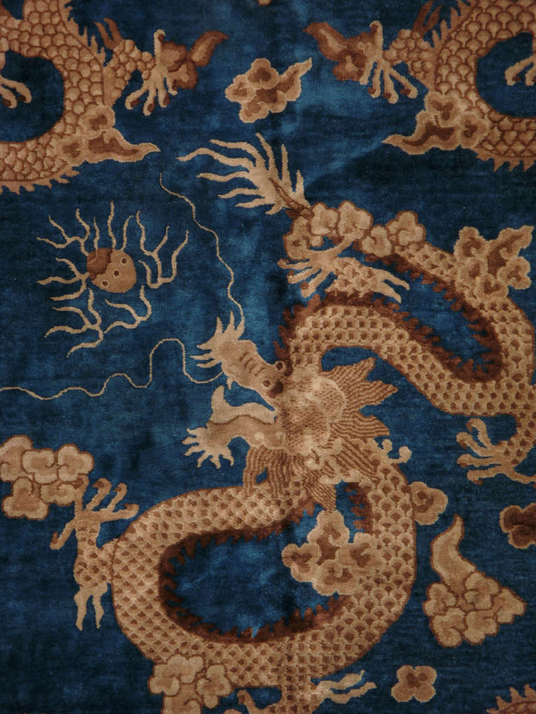 Antique Chinese Dragon Rug Image 2
