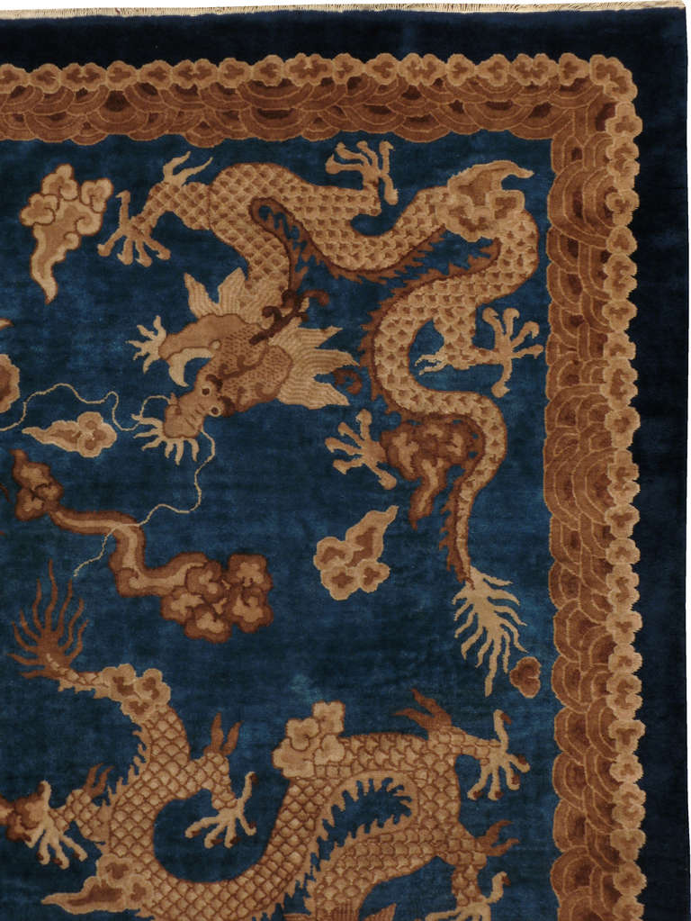 Antique Chinese Dragon Rug At 1stdibs