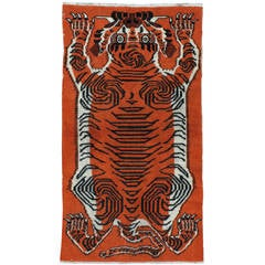 Antique Tibetan Pictorial Rug