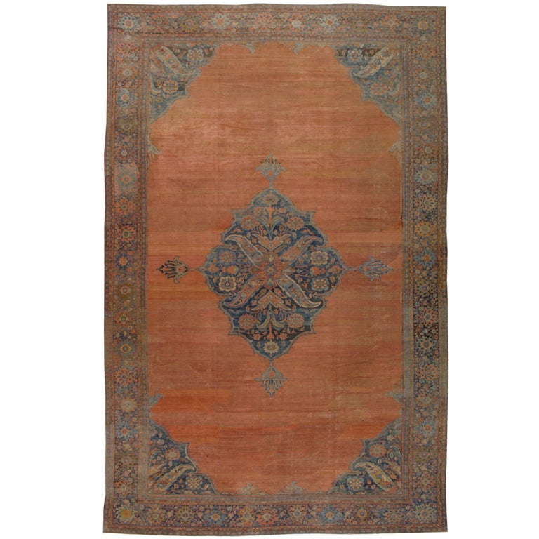 Persian Rugs For Sale: Antique Persian Mahal Rug For Sale At 1stdibs