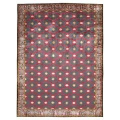 Mid-20th Century Handmade Silk Room Size Rug